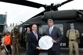 Ezüst Black Hawk-os 5 euróst bocsájtott ki az osztrák pénzverde